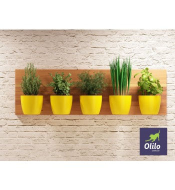 Painel Horta Vertical Madeira Monaco 100x30 - OL1020701